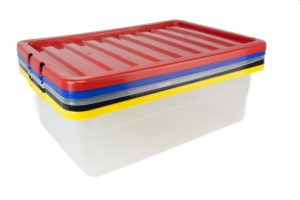 multi colour plastic boxes